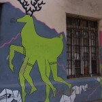 Улично изкуство - елен с човешки крака