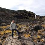 Аз в началото на кратера Морада дел Диабло