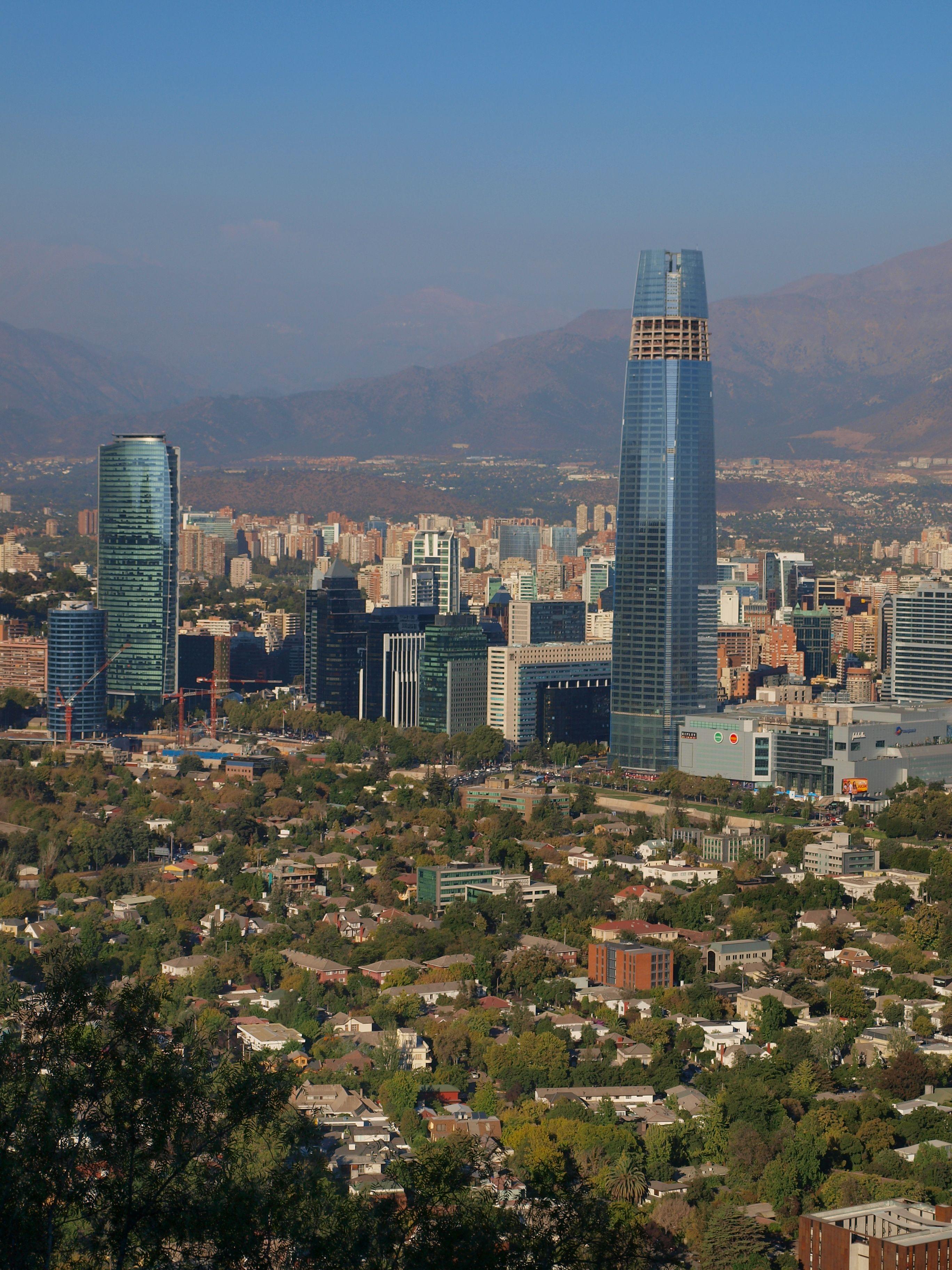 Сантяго от хълма Сан Кристобал
